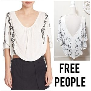 Free people size M embroidered flowy blouse